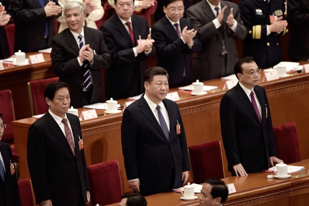 Chủ tịch Tập Cận Bình tham dự phiên họp của Quốc hội Trung Quốc hồi tháng 3 (Ảnh: AFP)