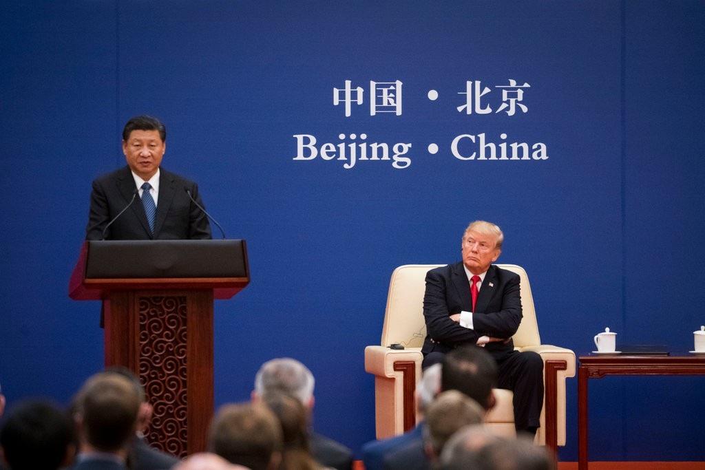 Chủ tịch Tập Cận Bình đón Tổng thống Donald Trump tại Bắc Kinh năm 2017 (Ảnh: New York Times)
