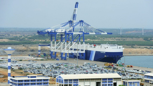 Cảng Hambantota tại Sri Lanka (Ảnh: AFP)