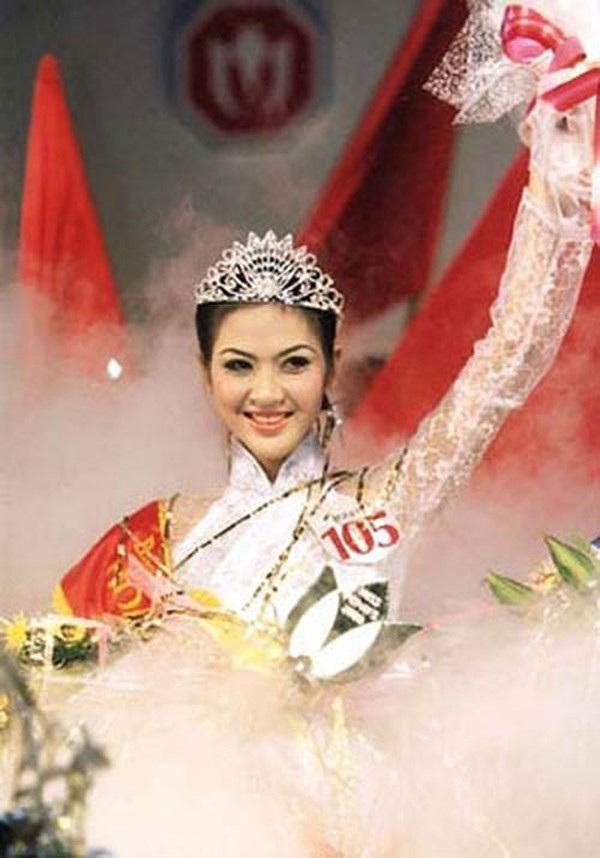 Phan Thu Ngân thời điểm mới đăng quang.
