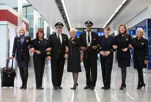 Tiếp viên hàng không của hãng United Airlines