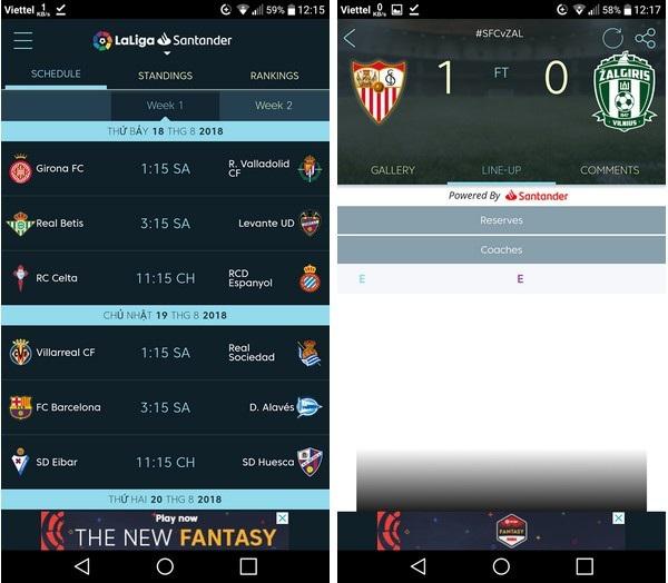 Ứng dụng lịch thi đấu các giải bóng đá hàng đầu châu Âu - 3
