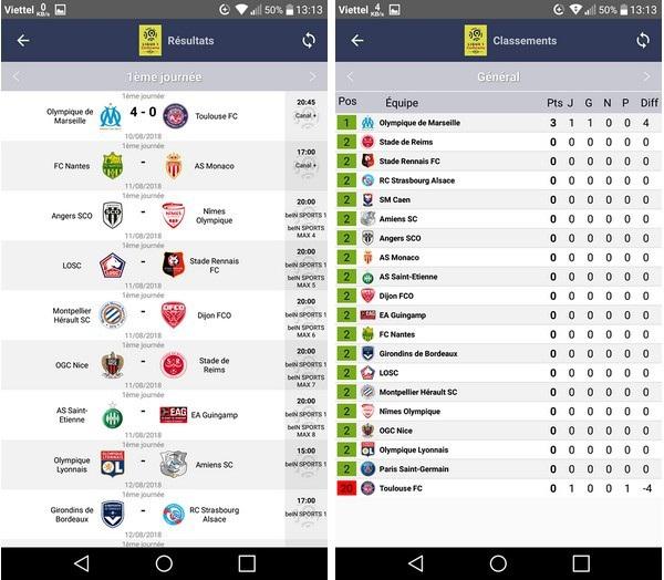 Ứng dụng lịch thi đấu các giải bóng đá hàng đầu châu Âu - 5