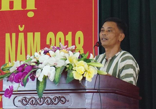 Phạm nhân Nguyễn Minh Thi phát biểu tại Hội nghị