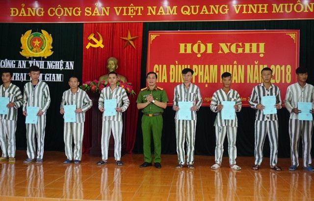 Nhân dịp này, Ban giám thị Trại tạm giam trao các phần thưởng cho 1 tập thể và 7 cá nhân thực hiện tốt việc chấp hành án phạt tù
