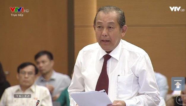 Phó Thủ tướng Trương Hoà Bình giải trình thêm trước UB Thường vụ Quốc hội về các nội dung chất vấn liên quan đến trách nhiệm điều hành của Chính phủ.