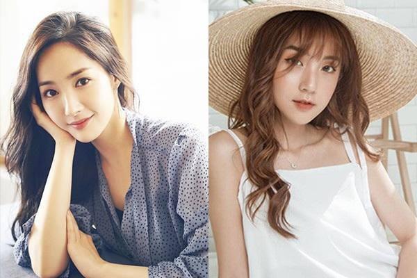 """Bùi Khánh Hà (đội mũ) có nhan sắc được so sánh với """"Thư kí Kim"""" - diễn viên Park Min Young"""