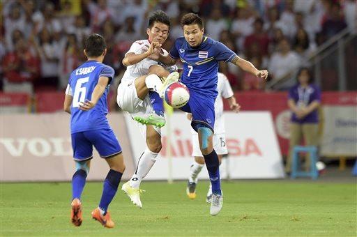 Olympic Thái Lan có trận hoà kịch tính với Qatar tại Asiad 2018