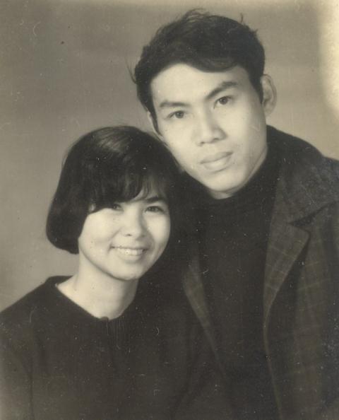 Nhà viết kịch Lưu Quang Vũ và nhà thơ Xuân Quỳnh.