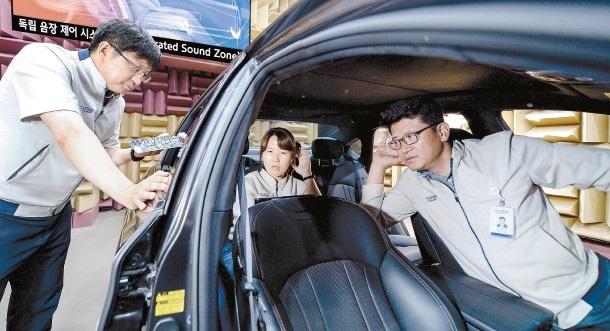 Các kỹ sư của Hyundai đang thử nghiệm hệ thống âm thanh độc lập mới. (Ảnh: Hyundai)
