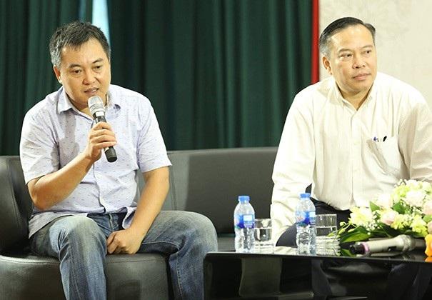 BTV Lưu Minh Vũ chia sẻ trong buổi họp báo giới thiệu đêm thơ nhạc kịch Tình yêu ở lại tại Hà Nội.
