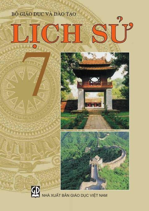 Bìa SGK Lịch sử lớp 7 có hình ảnh Vạn Lý Trường Thành (Ảnh: H. Phan)