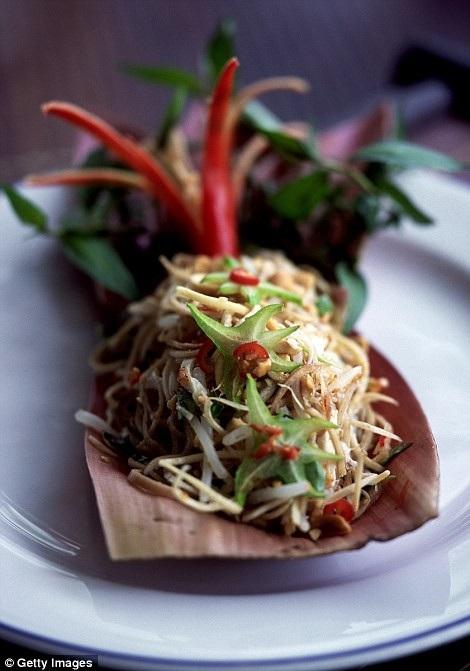 """Món gỏi đu đủ """"som tum"""" ăn ở Bangkok (Thái Lan) đứng thứ 5."""