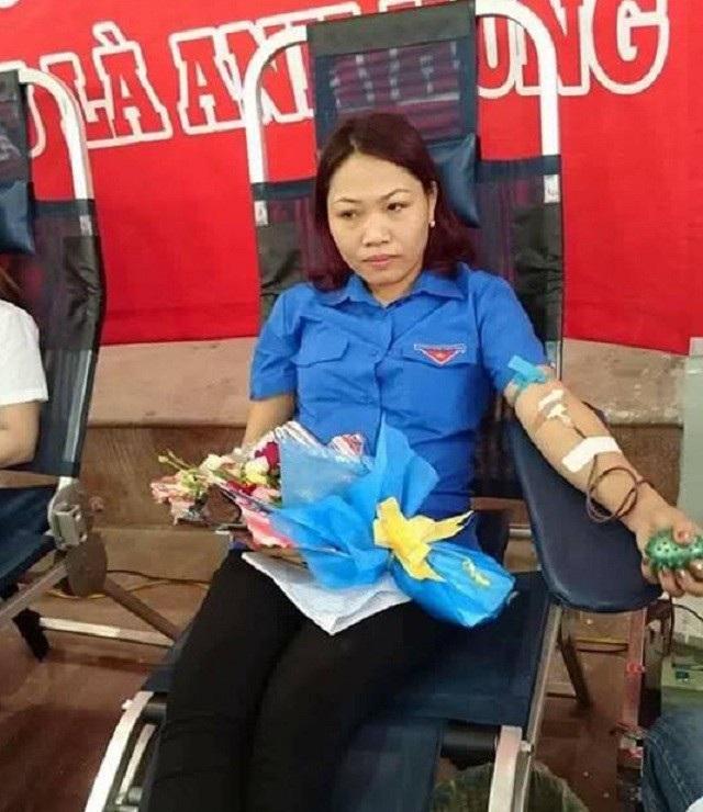 Chị Lan đã có 24 lần tham gia hiến máu cứu người