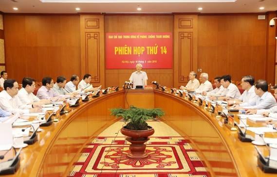 Tổng Bí thư chủ trì phiên họp thứ 14 của Ban chỉ đạo Trung ương về phòng chống tham nhũng