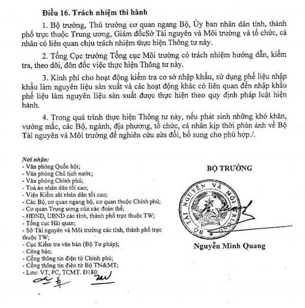 Tổng cục Môi trường viện dẫn quy định tại Khoản 6 Điều 5 Thông tư số 41/2015/TT-BTNMT của Bộ Tài nguyên và Môi trường để làm căn cứ cho rằng việc cấp Giấy xác nhận cho Công ty TNHH sản xuất AC&T Vina trong khi khi doanh nghiệp này chưa lập hồ sơ đề nghị xác nhận hoàn thành các công trình bảo vệ môi trường là đúng quy định.