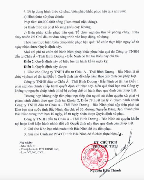 Công trình hoành tráng bậc nhất tỉnh Bắc Ninh phớt lờ phòng cháy chữa cháy! - Ảnh 2.