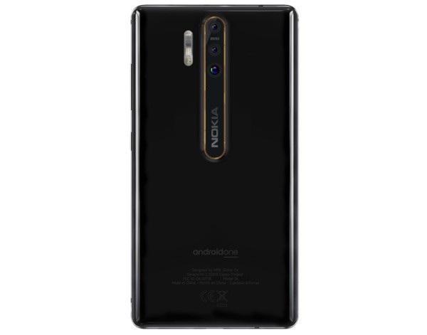 Hình ảnh mặt sau với cụm 3 camera của Nokia 9 từng bị rò rỉ trước đây