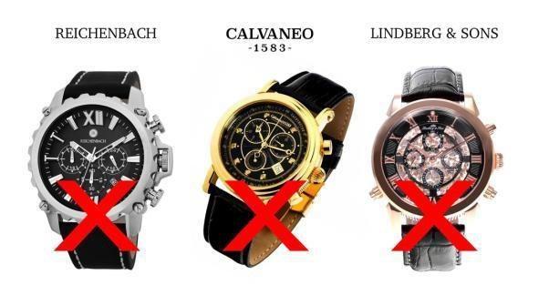 Một số thương hiệu Tàu gắn mác Đức, Thuỵ Sĩ nằm trong Blacklist (danh sách đen về đồng hồ) của thế giới (Nguồn: Trustedwatch.com)