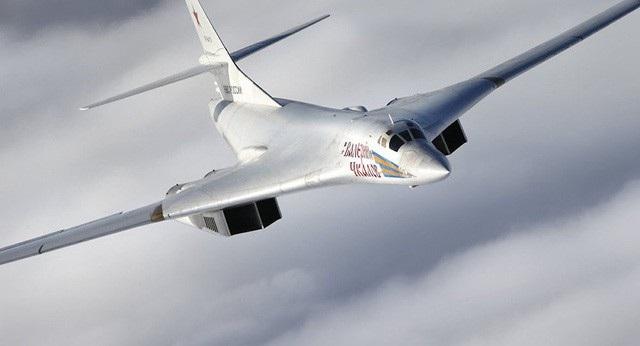 Máy bay ném bom siêu thanh hạng nặng Tu-160. (Ảnh: Bộ Quốc phòng Nga)