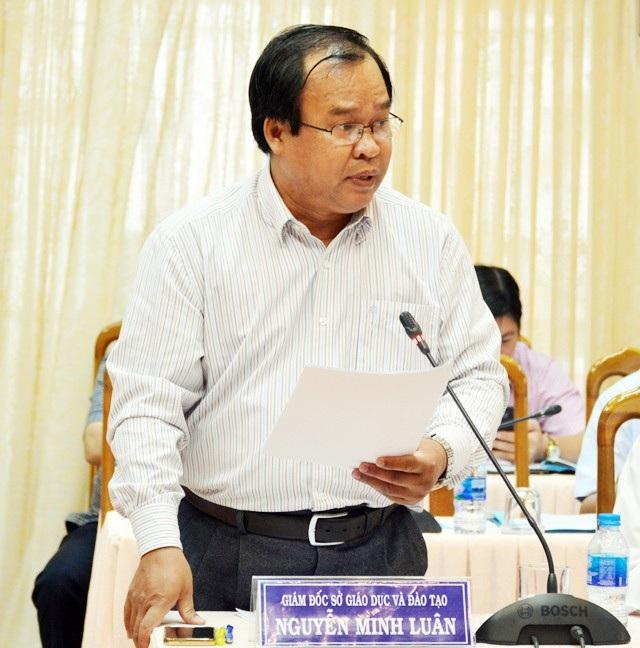 Giám đốc Sở Giáo dục Cà Mau, ông Nguyễn Minh Luân báo cáo tình hình rà soát học sinh năm học 2018-2019.