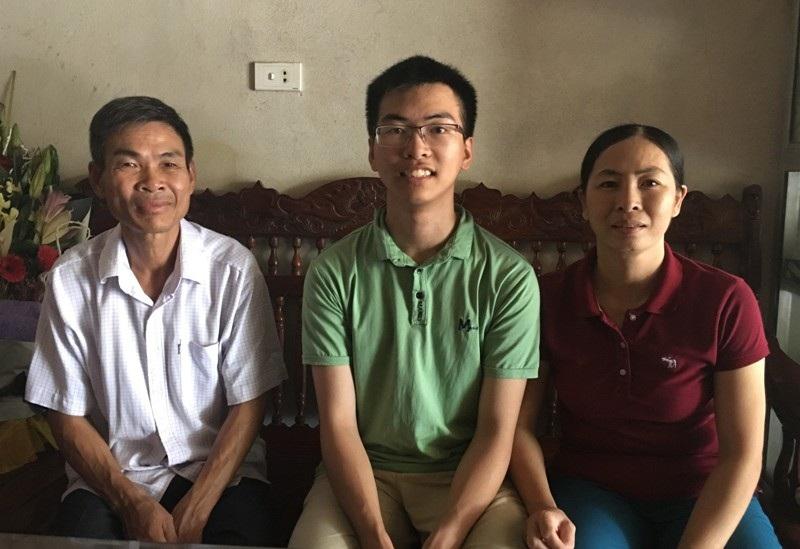Gia đình là động lực lớn nhất để Nguyên cố gắng trong học tập