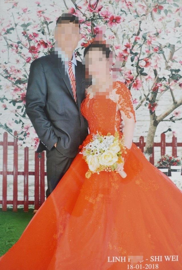 Chị H. và chồng người Trung Quốc chụp ảnh cưới ngày 18/1/2018.