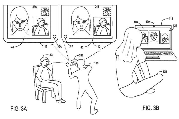 Bằng sáng chế mới về thiết bị 2 màn hình, gọi video 3 chiều