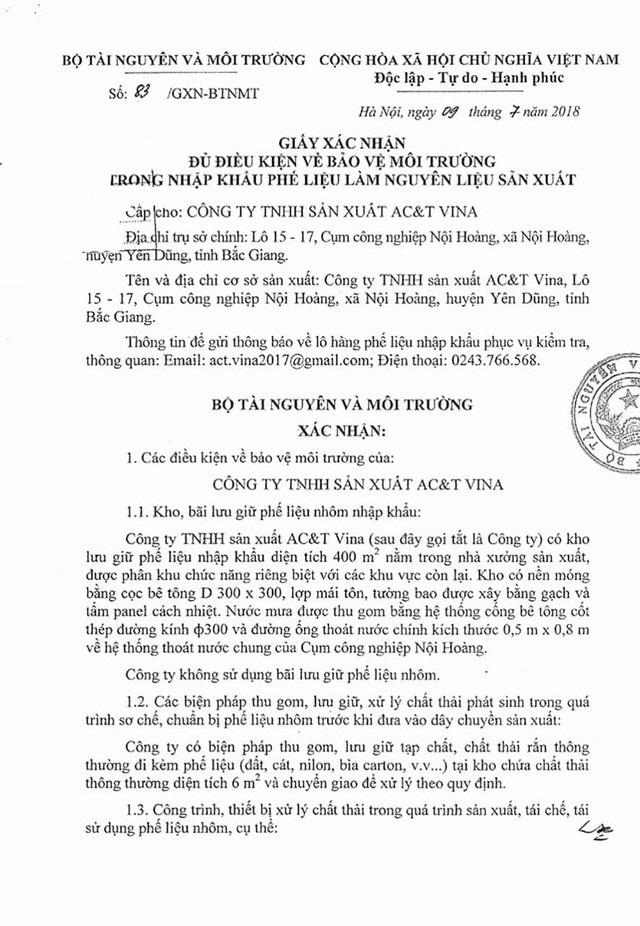 Thanh tra việc nhập khẩu phế liệu làm nguyên liệu sản xuất tại Bắc Ninh - Ảnh 2.