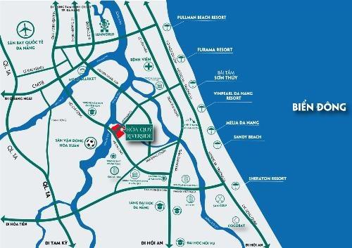 Sơ đồ vị trí dự án Hòa Quý Riverside.
