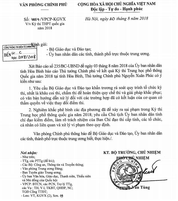 Thủ tướng nghiêm khắc phê bình địa phương để xảy ra sai phạm thi THPT quốc gia 2018 - 1
