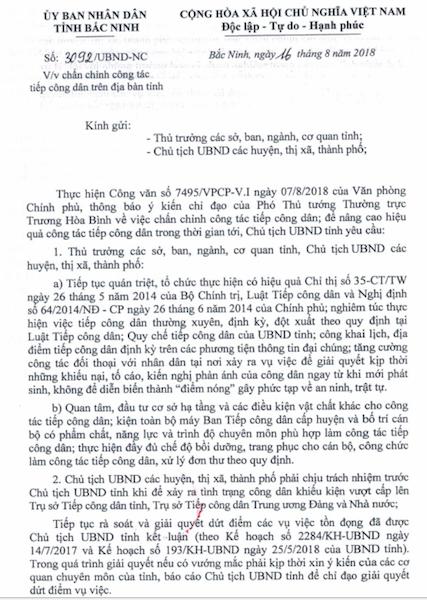 Bắc Ninh: Để xảy ra khiếu kiện vượt cấp, chủ tịch cấp huyện sẽ phải chịu trách nhiệm! - Ảnh 1.