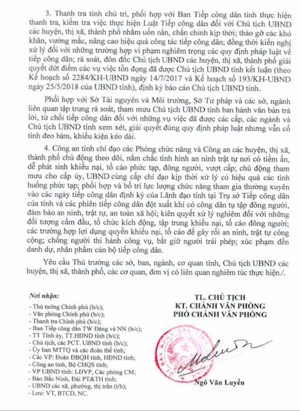 Bắc Ninh: Để xảy ra khiếu kiện vượt cấp, chủ tịch cấp huyện sẽ phải chịu trách nhiệm! - Ảnh 2.