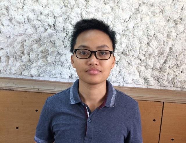 Nguyễn Thị Phương Loan tại cơ quan điều tra (ảnh P.T)