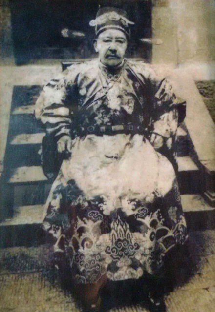 Ông Vương Chính Đức (1865-1947), thủ lĩnh cộng đồng người HMông ở cao nguyên đá Đồng Văn trước cách mạng tháng 8/1945 (Ảnh: Gia đình ông Vương Duy Bảo cung cấp)