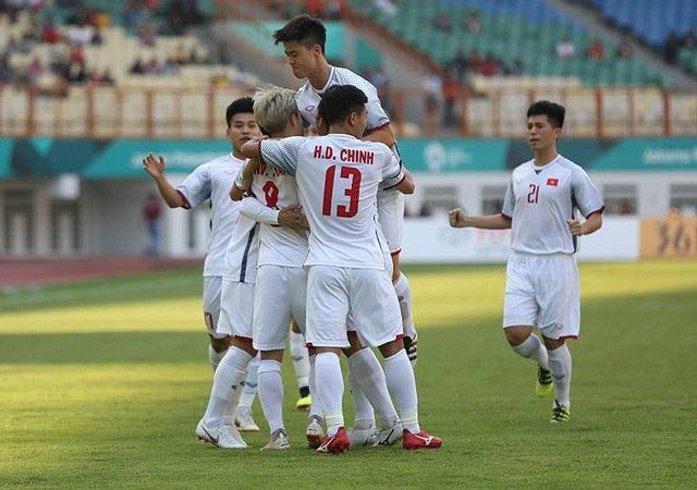 Olympic Việt Nam dẫn đầu bảng D môn bóng đá nam Asiad 2018 đầy thuyết phục khi đánh bại cả Pakistan, Nepal và Nhật Bản