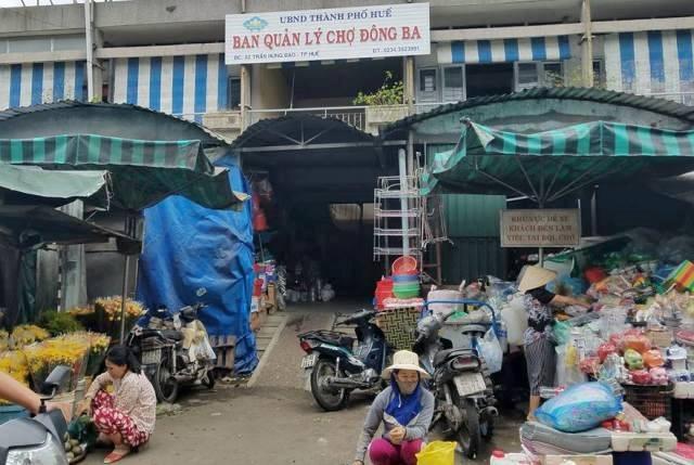 Khu vực nơi xảy ra sự việc bảo vệ chợ Đông Ba bị đâm nguy kịch