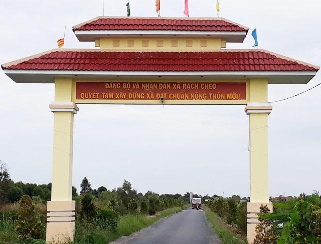 Đường vào xã Rạch Chèo, huyện Phú Tân, tỉnh Cà Mau. (Ảnh: CTV)