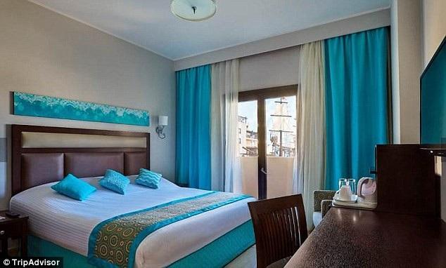 Một trong những căn phòng nơi hai vị khách lưu lại tại khách sạn trước khi họ qua đời