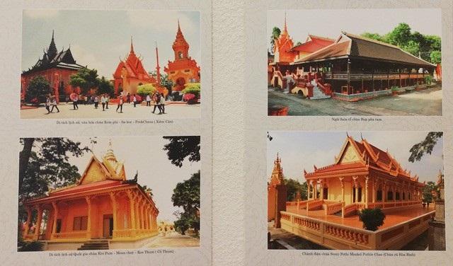 ... và những ngôi chùa Khmer (Bạc Liêu) được trưng bày tại triển lãm.