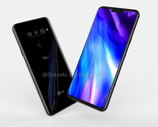 """LG V40 sở hữu thiết kế không viền với phần màn hình """"tai thỏ"""" ở cạnh trên"""