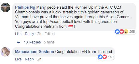 Người hâm mộ châu Á chúc mừng chiến tích lịch sử của Olympic Việt Nam - 2