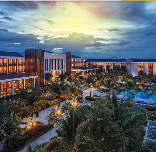 Toàn bộ khu du lịch Sunsire Hội An Beach Resort cùng máy móc, trang thiết bị kèm theo đang bị cơ quan thi hành án dân sự TP Hội An kê biên.