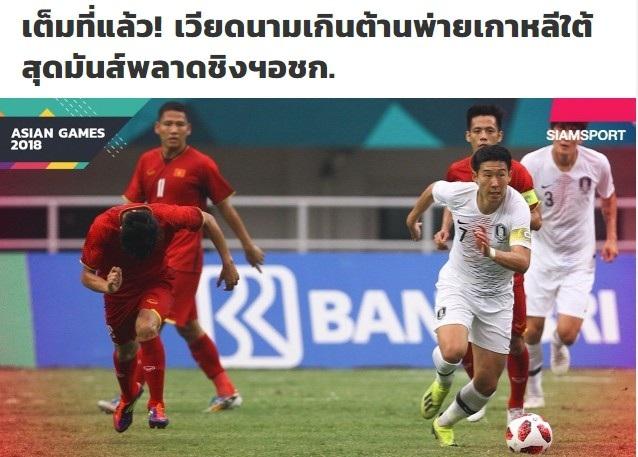 Tờ Siam Sport an ủi Olympic Việt Nam sau thất bại trước Olympic Hàn Quốc