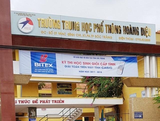 Trường THPT Hoàng Diệu, nơi bà Phạm Ngọc Phụng từng làm Hiệu trưởng.