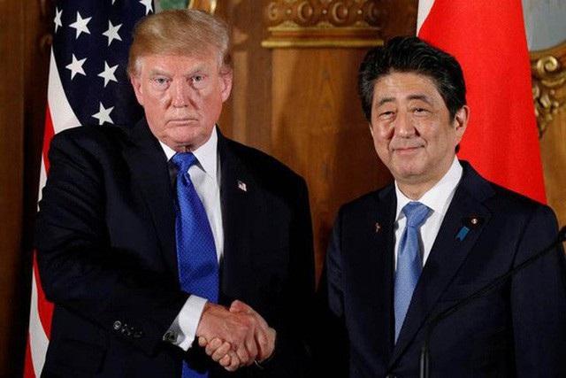 Tổng thống Mỹ Donald Trump và Thủ tướng Nhật Bản Shinzo Abe (Ảnh: Reuters)