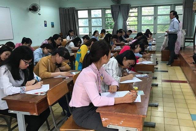 Ứng viên tham gia vào kỳ tuyển dụng giáo viên của Sở GD-ĐT TPHCM vừa diễn ra vào cuối tháng 7 vừa qua