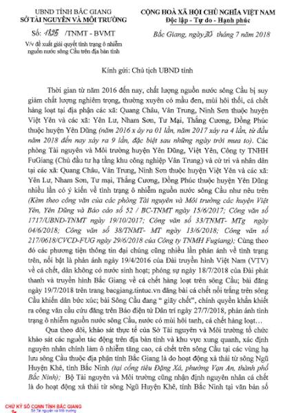 """Sông Cầu đang """"giãy chết"""", Sở TN&MT Bắc Giang đề xuất giải cứu khẩn! - 1"""