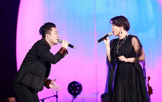 Mỹ Linh và Tùng Dương từng đoạt giải cao nhất cuộc thi Giọng hát hay Hà Nội.