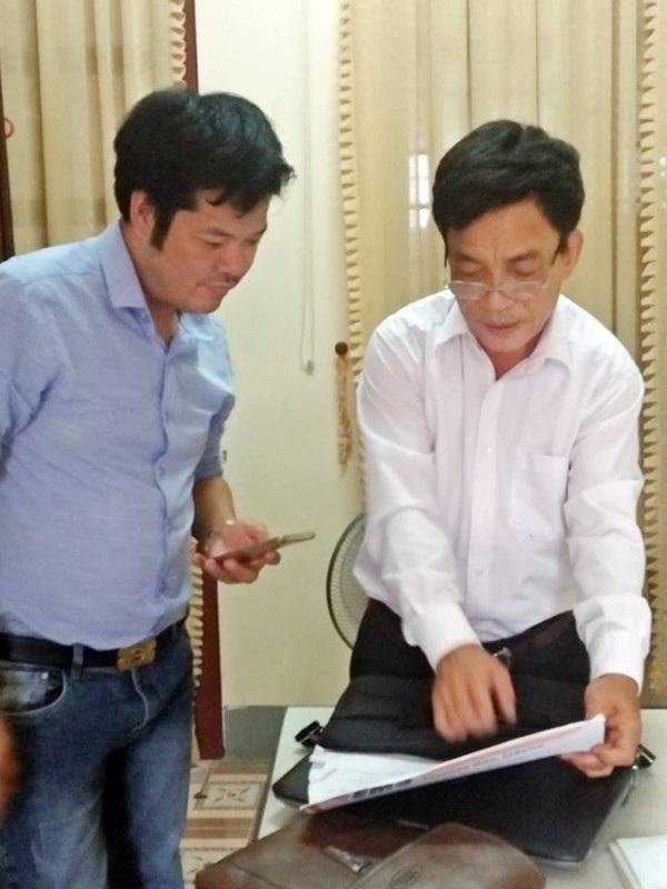 Ông Nguyễn Đình Ngân, Chủ tịch Hội CCB huyện Hương Sơn làm việc với PV Dân trí.